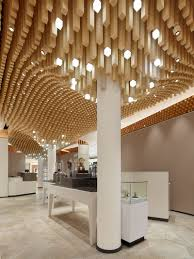 Design Idea by Modern Ceiling Design Idea 4362 Square Wooden Dowels Cover The