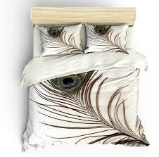 Peacock Feather Comforter Purple Bedding Set King Size Tokida For