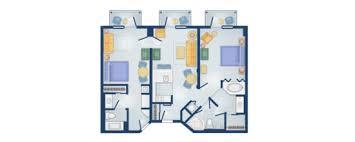 Bay Lake Tower Two Bedroom Villa Floor Plan Disney U0027s Boardwalk Villas Disney Vacation Club Rental Store