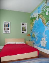 15 boys bedrooms with map walls rilane green boy bedroom with map wall