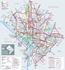 Washington Dc Airports Map by Detailed Metrobus Route Map Of Washington D C Vidiani Com