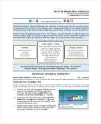 Digital Marketing Sample Resume by Email Marketing Sample 7 Documents In Pdf Word