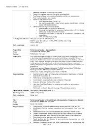 Testing Resume Sample by Sr Performance Testing Consultant