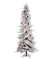 slim flocked pencil pine artificial christmas trees treetime