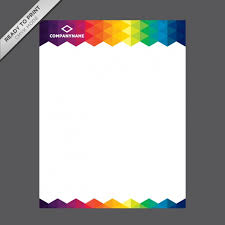 coloured templates coloured letterhead template vector free download
