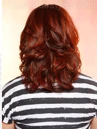 medium hair styles with layers back view layered haircuts for curly hair back view hair