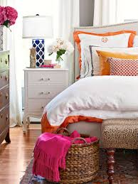 Orange And Brown Home Decor Pops Of Color Pure Fun U003d A Bedroom With Fuchsia And Red And