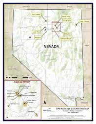 State Of Nevada Map by Newmont Mining Nevada U S Overview