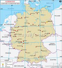 map of gemany latitude and longitude map