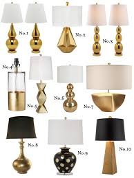 Gold Table Lamp Midas Touch Gold Lamp Round Up Effortless Style Blog