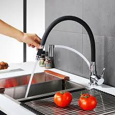 robinet pour evier cuisine homelody robinet de cuisine tuyau souple en silicone noir