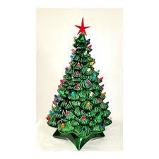 ceramic light up christmas tree vintage mold ceramic light up christmas tree 19 5