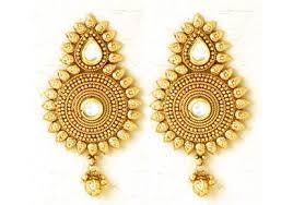 kerala earrings golden color and white kundan earring kerala news