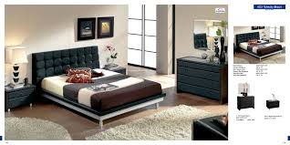White Walls Dark Furniture Bedroom Black White Bed With Brown Cream Bed Sheet On The Floor Connected