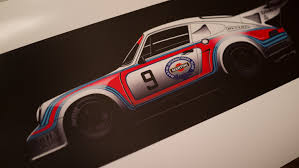 porsche martini martini racing porsche 911 rsr turbo sideview 20 piece limited