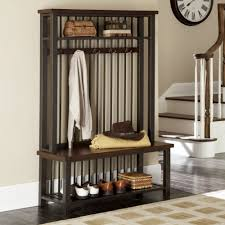 Modern Entryway Furniture by Home Styles Cabin Creek Hall Tree Hall Trees At Hayneedle Hall