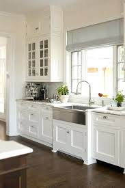White Kitchen Cabinets With Glaze by Gray Floors With White Kitchen Cabinets Gray Kitchen White Island