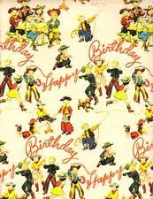 cowboy wrapping paper wrapping paper ebay