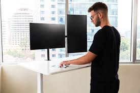 autonomous ai smart desk this ai standing desk really just has a touchscreen tablet built