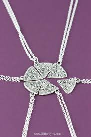silver best friend necklace images Sale pizza necklaces friendship necklace best friends jpg
