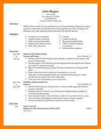 restaurant resume example retail and restaurant associate resume