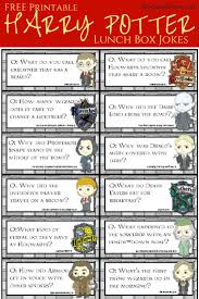 harry potter printable lunchbox jokes and notes for kids lunch