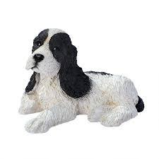 black white cocker spaniel puppy statue cf2458 design