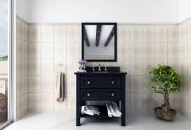 minimalist white wooden bathroom vanity with cabinet and drawers