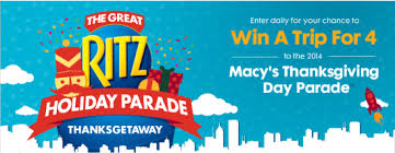 the great ritz parade commercial sweepstakes win a trip
