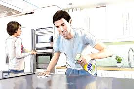 Cleaning Kitchen Bathroom Foxy Young Cleaning Kitchen Stock Photo Wavebreakmedia