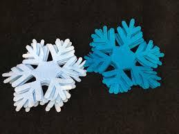 felt blue snowflake 2 die cuts frozen inspired felt snowflakes