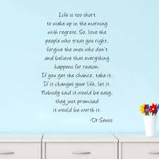 boodecal dr seuss series inspirational quote wall decals life is boodecal dr seuss series inspirational quote wall decals life is too short to wake up in the morning with regrets wall stickers decals 23 35 inches
