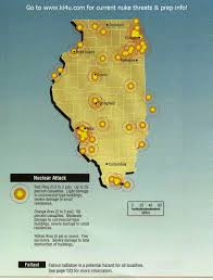 Map To Chicago by Scarry Thoughts What Would A Nuclear Weapon Do To Chicago Go