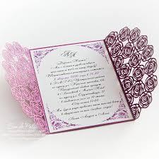 Cards Wedding Invitations Wedding Invitation Pattern Card 5x7 Template от Easycutprintpd