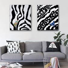 free shipping hd oil painting zebra pattern insect decoration