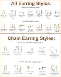 types of earrings for women 40 types of earring backings different types of earring and