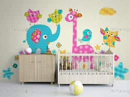 cute giraffe elephant kit wall decals for kids vdi1209en cute giraffe elephant kit jungle wall decals