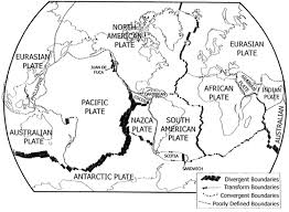 Map Of Tectonic Plates Plate Boundaries And Crust Types Using The Plate T Chegg Com