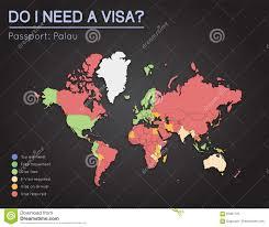 Palau Map Visas Information For Republic Of Palau Passport Stock Vector