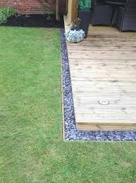 Timber Garden Edging Ideas Stones Used As Simple Clean Edging Of A Deck Timber Garden Edging
