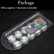small led lights with remote 20pcs wedding decoration remote control submersible led tea table