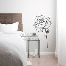 popular rose wall decals buy cheap rose wall decals lots from rose flower wall sticker floral rose wall decal diy modern flower sticker vinyl wall art cut
