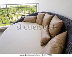 elegant outdoor daybed waterproof cover daybed stock images