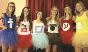 halloween costumes social network facebook youtube twitter