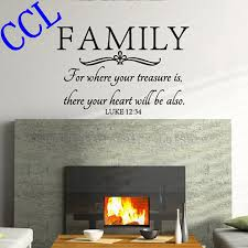 popular bible family buy cheap bible family lots from china bible free shipping family wall quote bible wall decal stickers where your treasure is there