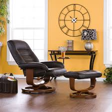 Yellow Leather Recliner Cozy Leather Recliner With Ottoman House Plan And Ottoman