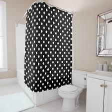 Grey And White Polka Dot Curtains Black Polka Dots Shower Curtains Zazzle