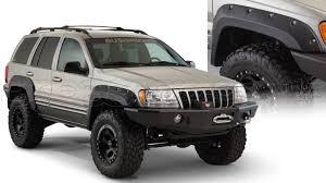 gray jeep grand cherokee 2004 jeep grand cherokee wj wg 1999 2004 fenders flares bushwacker