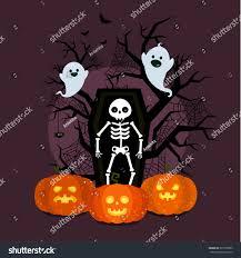 halloween illustration poster flyer banner background stock vector