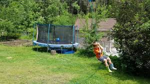 Zip Line For Backyard by Backyard Zipline For My Kids 150 U0027 Youtube